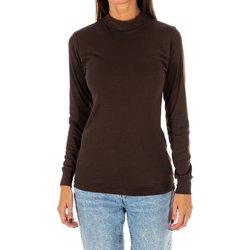 Textiel Dames T-shirts met lange mouwen Kisses And Love Bisous et amour T-shirt long Brown