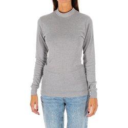 Textiel Dames T-shirts met lange mouwen Kisses And Love Bisous et amour T-shirt long Grijs