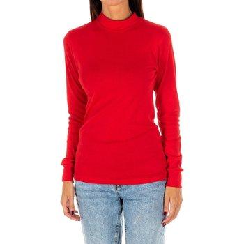 Textiel Dames T-shirts met lange mouwen Kisses And Love Bisous et amour T-shirt long Rood