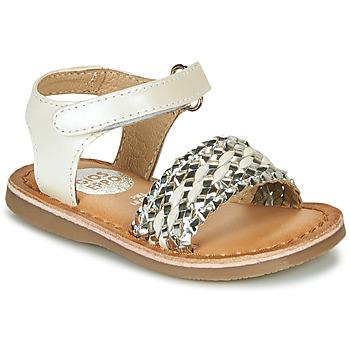 Schoenen Meisjes Sandalen / Open schoenen Gioseppo VARESE Wit / Zilver
