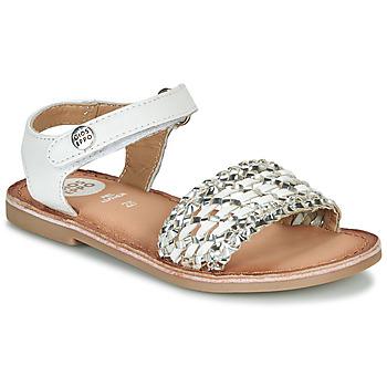 Schoenen Meisjes Sandalen / Open schoenen Gioseppo VIETRI Wit / Zilver