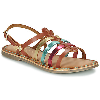 Schoenen Meisjes Sandalen / Open schoenen Gioseppo ETALLE Cognac / Multikleuren