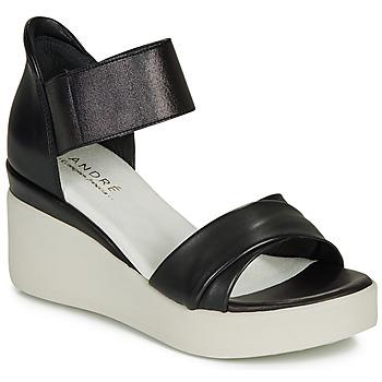 Schoenen Dames Sandalen / Open schoenen André HERMINIA Zwart