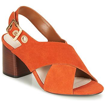 Schoenen Dames Sandalen / Open schoenen André JANNINE Orange