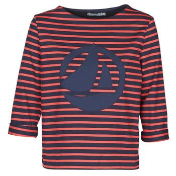 Textiel Dames Tops / Blousjes Petit Bateau  Rood / Marine