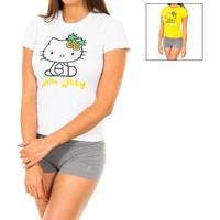 Ondergoed Dames Panty's/Kousen Disney Lot de deux t-shirts Hello Kitty Multicolour