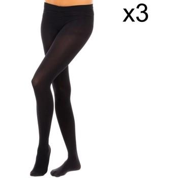 Ondergoed Dames Panty's/Kousen Vignoni Pack-3 Tupido Panty M.Fibra 200D Zwart