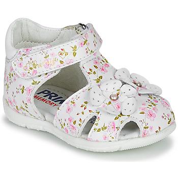 Schoenen Meisjes Sandalen / Open schoenen Primigi 5401300 Wit / Roze