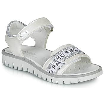 Schoenen Meisjes Sandalen / Open schoenen Primigi 5386700 Wit / Zilver