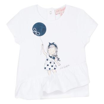 Textiel Meisjes T-shirts korte mouwen Lili Gaufrette NALIOS Wit