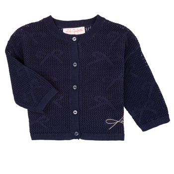 Textiel Meisjes Vesten / Cardigans Lili Gaufrette NANETTE Marine