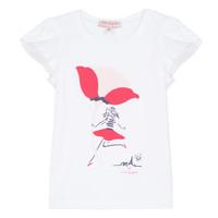 Textiel Meisjes T-shirts korte mouwen Lili Gaufrette KATINE Wit
