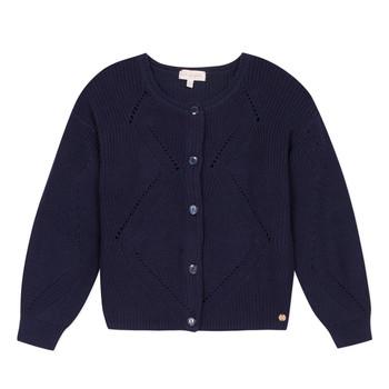 Textiel Meisjes Vesten / Cardigans Lili Gaufrette MADINE Marine