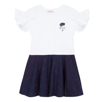 Textiel Meisjes Korte jurken Lili Gaufrette MENDI Wit