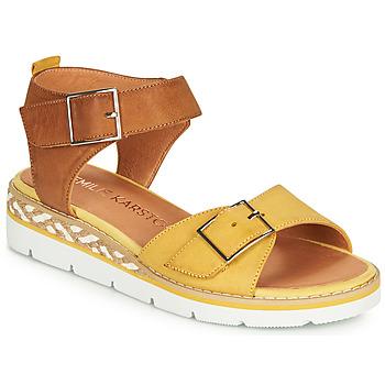 Schoenen Dames Sandalen / Open schoenen Karston KICHOU Geel / Brown