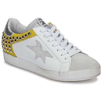 Schoenen Dames Lage sneakers Meline GELLABELLE Wit / Mosterd