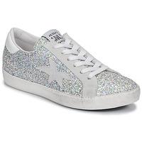 Schoenen Dames Lage sneakers Meline GARAMINE Wit / Zilver
