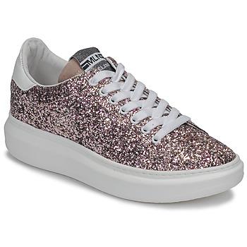 Schoenen Dames Lage sneakers Meline GEYSI Glitter / Roze