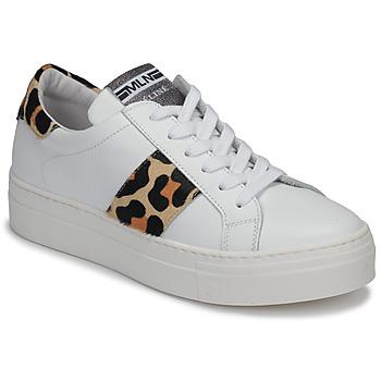 Schoenen Dames Lage sneakers Meline GETSET Wit / Leopard
