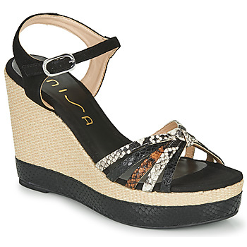 Schoenen Dames Sandalen / Open schoenen Unisa MIRELLA Zwart
