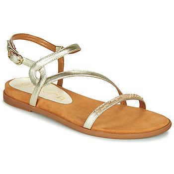 Schoenen Dames Sandalen / Open schoenen Unisa CLARIS Goud