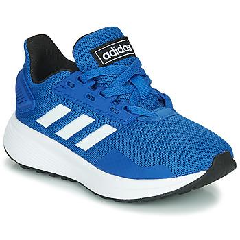 Schoenen Kinderen Lage sneakers adidas Originals DURAMO 9 K Blauw