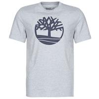 Textiel Heren T-shirts korte mouwen Timberland SS Kennebec River Brand Tree Tee Grijs
