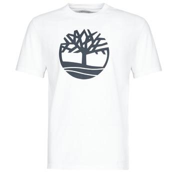 Textiel Heren T-shirts korte mouwen Timberland SS KENNEBEC RIVER BRAND TREE TEE Wit