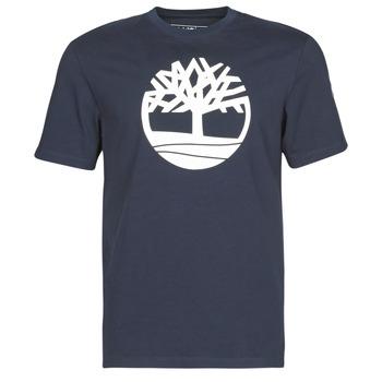 Textiel Heren T-shirts korte mouwen Timberland SS KENNEBEC RIVER BRAND TREE TEE Marine