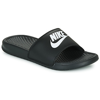 Schoenen Dames Slippers Nike BENASSI JUST DO IT Zwart / Wit