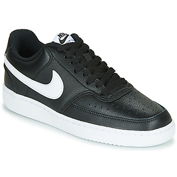 Schoenen Dames Lage sneakers Nike COURT VISION LOW Zwart / Wit