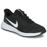 Schoenen Kinderen Lage sneakers Nike REVOLUTION 5 GS Zwart / Wit