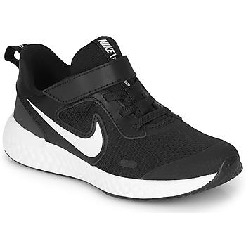 Schoenen Kinderen Allround Nike REVOLUTION 5 PS Zwart / Wit