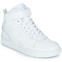 Schoenen Kinderen Hoge sneakers Nike COURT BOROUGH MID 2 GS Wit
