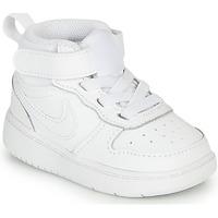 Schoenen Kinderen Hoge sneakers Nike COURT BOROUGH MID 2 TD Wit