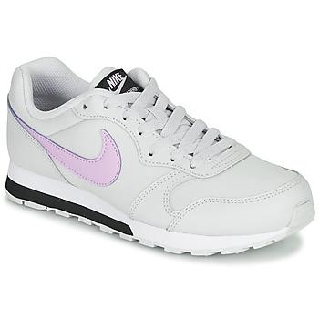 Schoenen Meisjes Lage sneakers Nike MD RUNNER GS Wit / Roze