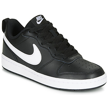 Schoenen Kinderen Lage sneakers Nike COURT BOROUGH LOW 2 GS Zwart / Wit