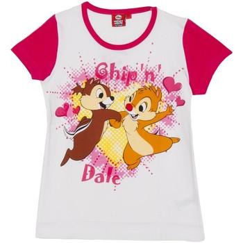 Textiel Meisjes T-shirts korte mouwen Disney T m / Cip pied et Ciop Roze