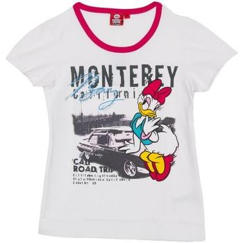 Textiel Meisjes T-shirts korte mouwen Disney T m / Daisy pied Wit