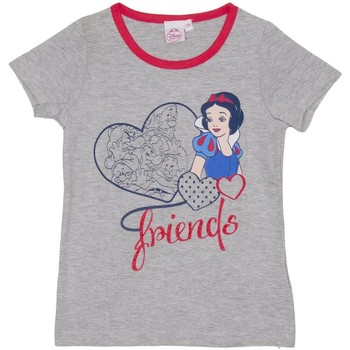 Textiel Meisjes T-shirts korte mouwen Disney T m / Principesse pied Grijs