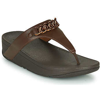 Schoenen Dames Slippers FitFlop LOTTIE CHAIN TOE-THONGS Brown