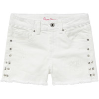 Textiel Meisjes Korte broeken / Bermuda's Pepe jeans ELSY Wit