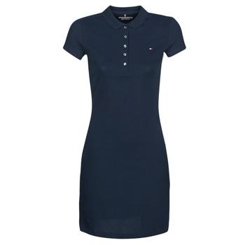 Textiel Dames Korte jurken Tommy Hilfiger HERITAGE SLIM POLO DRS Marine