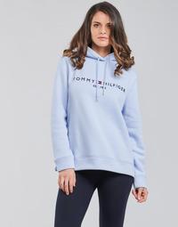 Textiel Dames Sweaters / Sweatshirts Tommy Hilfiger TH ESS HILFIGER HOODIE LS Blauw / Ciel