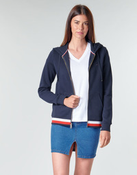 Textiel Dames Sweaters / Sweatshirts Tommy Hilfiger HERITAGE ZIP THROUGH HOODIE Marine