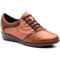 Schoenen Dames Derby Cbp - Conbuenpie Zapatillas casual de piel by CBP Marron