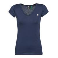 Textiel Dames T-shirts korte mouwen G-Star Raw EYBEN SLIM V T WMN SS Blauw