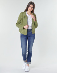 Textiel Dames Straight jeans G-Star Raw MIDGE MID STRAIGHT WMN Kaki