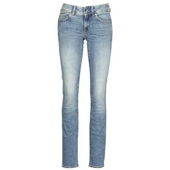 Textiel Dames Straight jeans G-Star Raw MIDGE MID STRAIGHT WMN Blauw