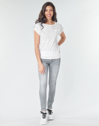 Textiel Dames Skinny Jeans G-Star Raw Lynn Mid Skinny Wmn Faded / Industrieel / Grey